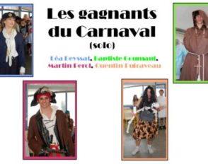 Les lauréats du carnaval 2010