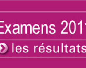 Résultats aux examens 2011