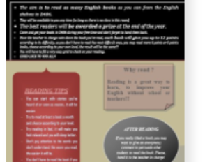 The english reading competition