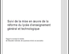 Nouveau lycée : rapport des inspections générales sur la mise en œuvre de la réforme