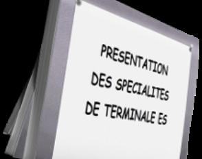Présentation des spécialités de Terminale ES