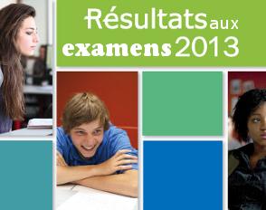 Résultats aux examens 2013
