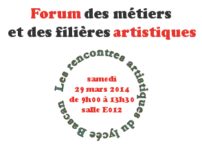 Forum des métiers et des filières artistiques