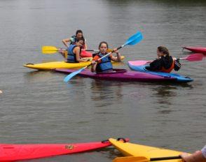 Sortie kayak Juin 2014 avec l'AS du lycée