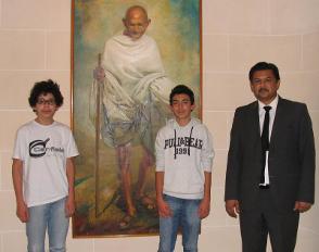 Un après-midi indien pour deux élèves de 2de du lycée Bascan