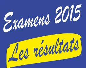 Résultats aux examens 2015
