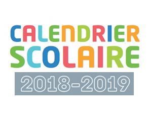 Calendrier des vacances scolaires 2018-2019