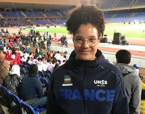 Marine Grandin à Marrakech pour la Gymnasiade 2018