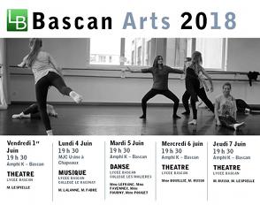 Festival Bascan'Arts 2018 : le programme