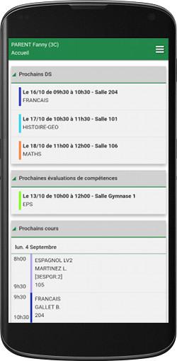 écran application androïd