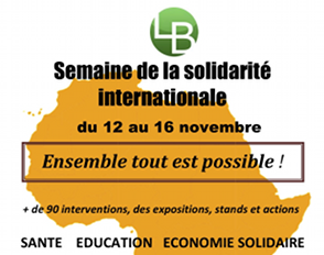 Semaine de la solidarité internationale : ensemble, tout est possible !