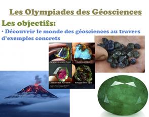 Présentation des Olympiades des Géosciences