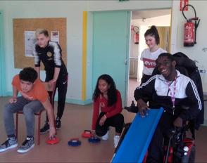 Partenariat handisport entre le lycée Bascan et l'institut d'éducation motrice de Richebourg
