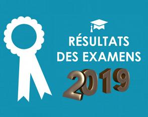 Résultats aux examens 2019