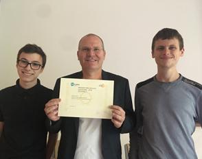 Deux élèves de Bascan, lauréats du concours ISN des lycées, organisé par le Labex Digicosme.