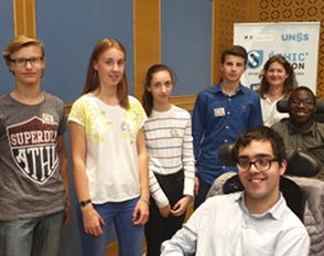 Les jeunes du lycée Louis-Bascan et de la fondation Mallet lauréats du prix national « sport partagé » UNSS Ethic'action 2019