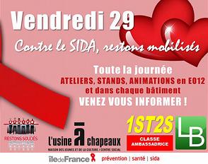 Journée de lutte contre le SIDA : tous mobilisés avec les élèves de 1ère ST2S