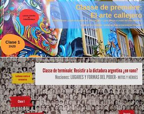 El arte callejero & Resistir a la dictadura argentina
