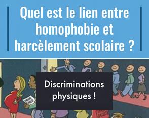 Liens entre l'homophobie, les discriminations physiques et le harcèlement