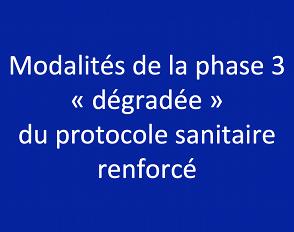 Modalités de la phase 3 « dégradée » du protocole sanitaire renforcé