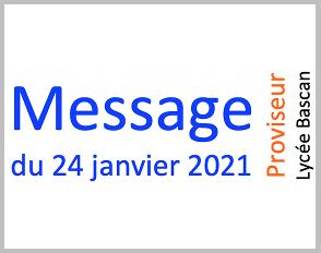 Message du 24.01.2021
