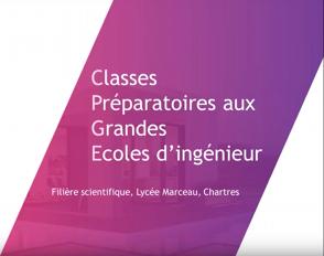 Rediffusion de la présentation des CPGE du lycée Marceau