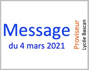 Message du 04.03.2021