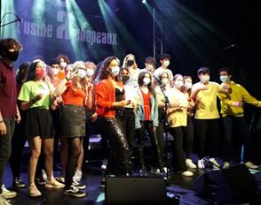 Le livre interactif du projet Fabrique à chanson avec les élèves en Euro espagnol