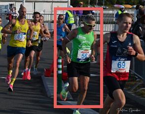 Sylvain Mouquet, professeur d'E.P.S. au lycée Bascan, champion de France de semi-marathon dans la catégorie master 3